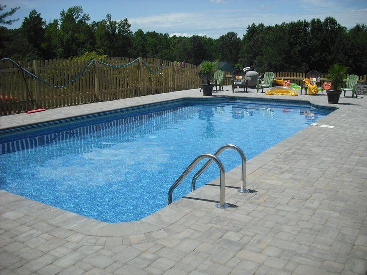 Pool pavers   Brick Paver Skirting Around Pool in Fredericksburg, Virginia ...