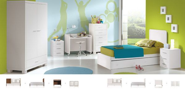Awesome Practical Furniture For Baby Nursery And Kids Room By Micuna : Awesome Practical Furniture For Baby Nursery And Kids Room By Micuna With White Green Blue Bed And Closet And Desk Design Further information can be found on http://www.cuteco.com.au