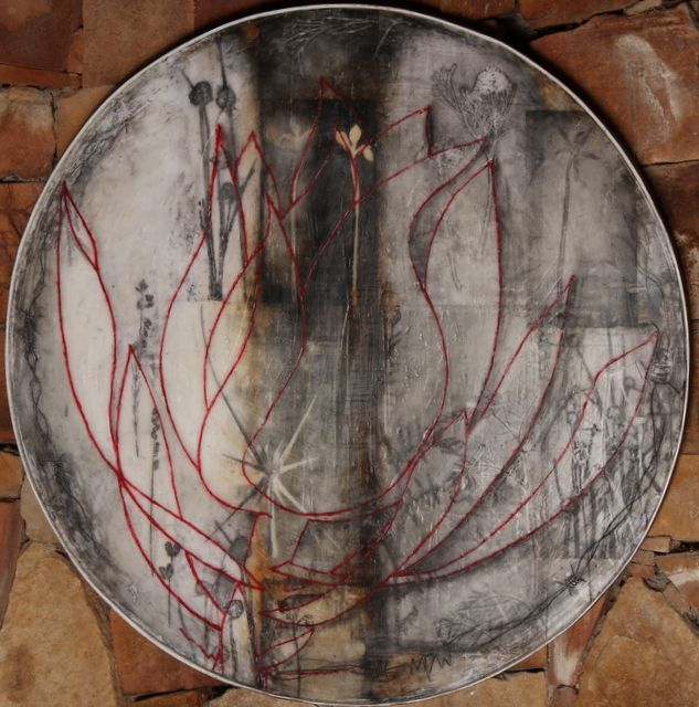 Connected encaustic mixed media by Monique Day-Wilde