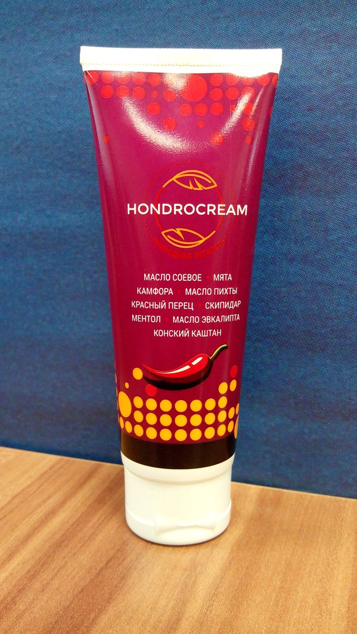 Крем Hondrocream от остеохондроза, артрозов и травм