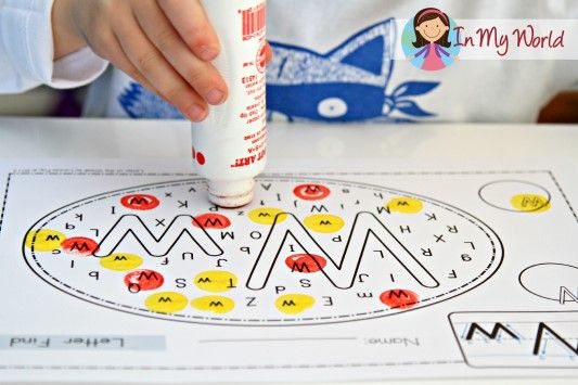 Preschool Letter W FREE Letter Find activity page. Laminate and use with dry erase markers.