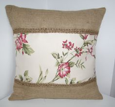 hessian and striped pillows - Google Search