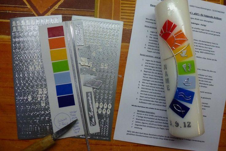 Selfmade Set Rainbow Motive For Christening Communion By Kerzen