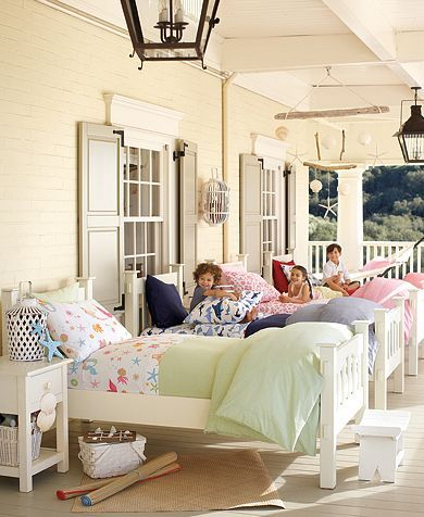 """""""campout"""" sleeping porch"""