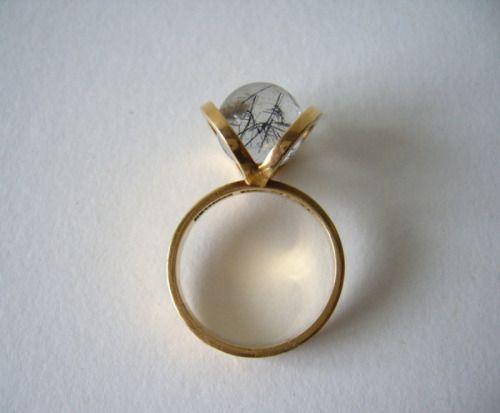 FOR THE LOVE OF JEWELRY — 1960's Danish Rutilated Quartz Ring