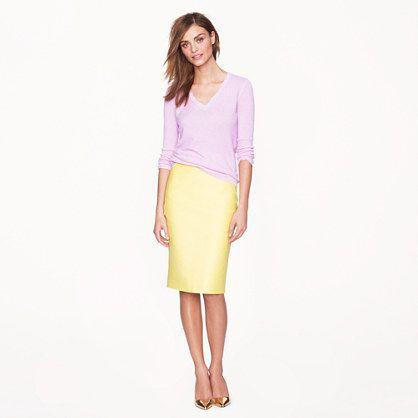 J.Crew No. 2 pencil skirt (cotton) multiple colors