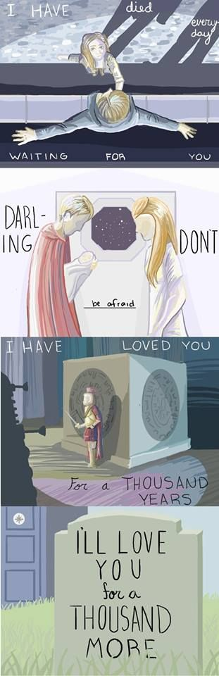 Thank you to who ever made this amazing pic! I have always thought of dr who when I heard this song, but could you make one for number ten and rose?