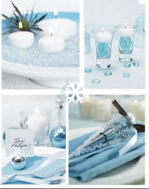 ice blue winter wedding