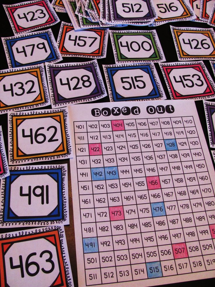 Amazing math centers to practice numbers to 1,000 - has game boards for numbers to 1000... great place value practice and there's a ton of other activities you can do with all the number cards!