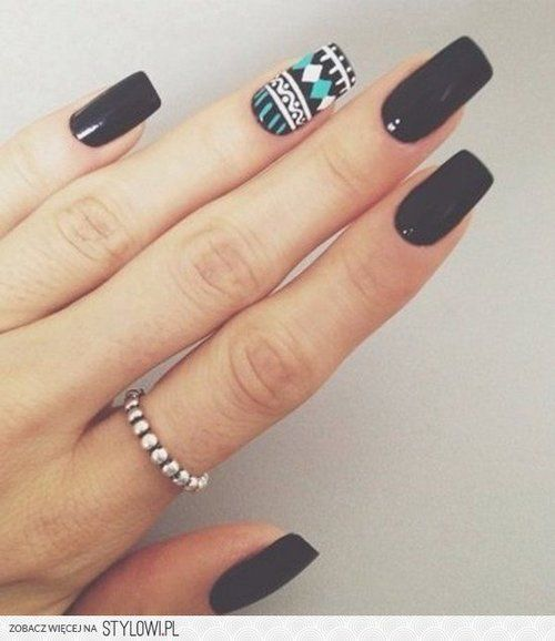 #Nail #Black #White #Green #LightGreen #Ethnic