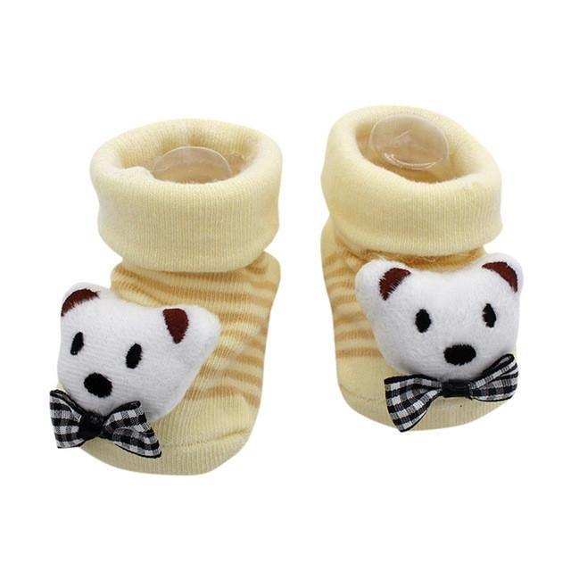 Baby Girls Boys Anti-slip Socks Cartoon Newborn Toddler Slipper Shoes Boots AD