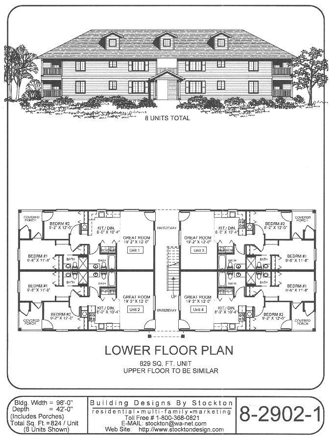 202 best images about apartment house plan ideas on for 6 plex floor plans