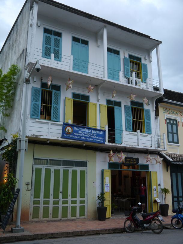 French colonial buildings in Luang Prabang