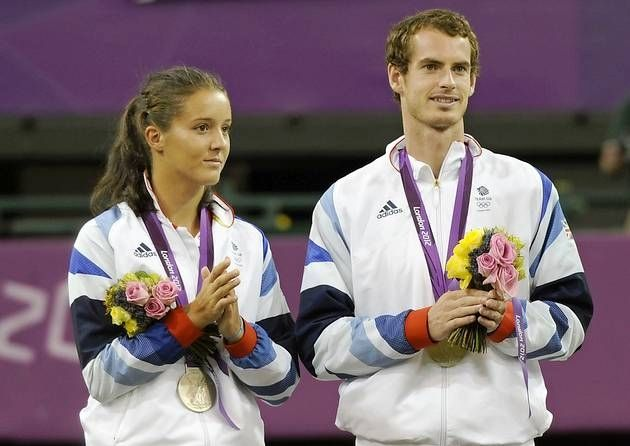 Laura Robson and Andy Murray (silver)