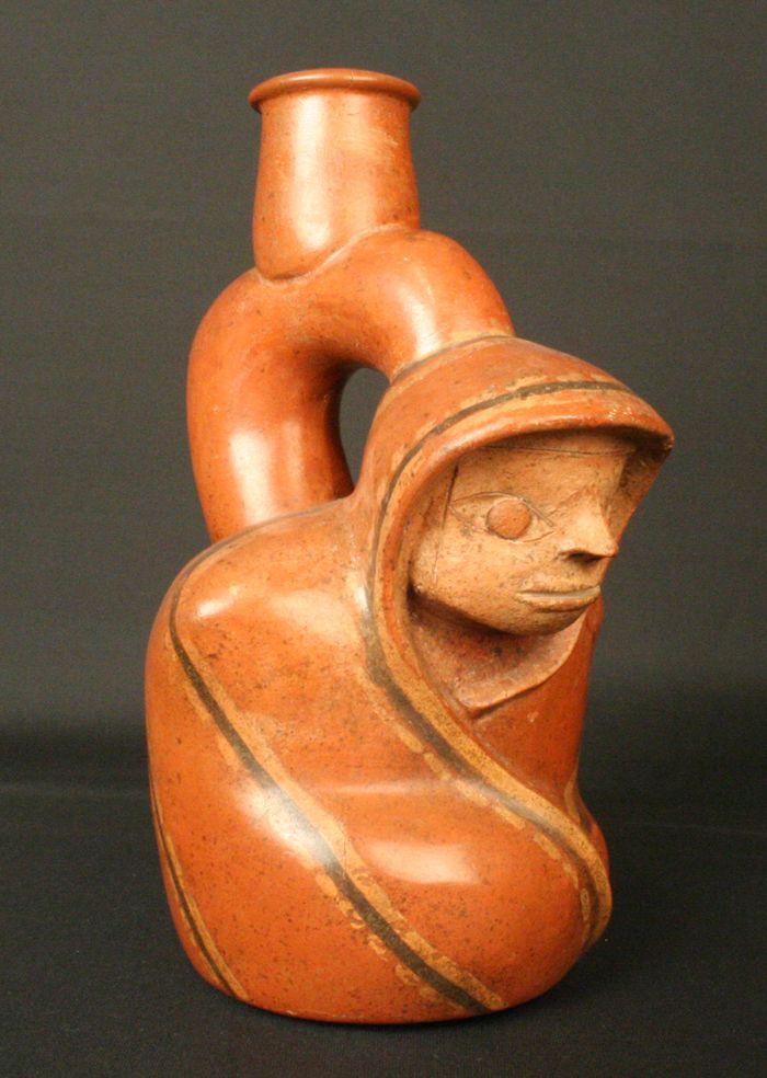 Botella asa estribo antropomorfa – Museo Chileno de Arte Precolombino Museo Chileno de Arte Precolombino