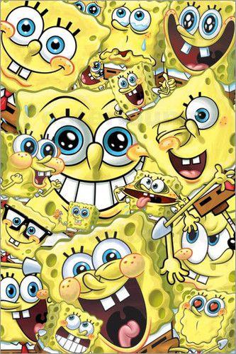 Spongebob - Faces  -Bilder: Poster bei Posterlounge.de