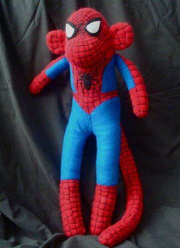 Spider-Man Sock Monkey. @Melissa C., combining all loves (even more if there is a smaller sock monkey spiderman inside)