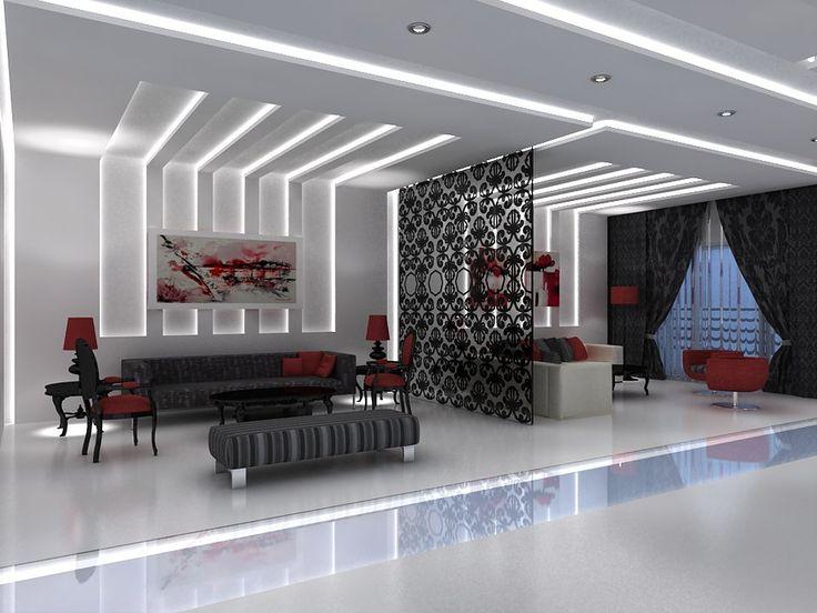 Modernes Wohnzimmer gestalten leicht gemacht KB Pinterest - deckengestaltung teil 1