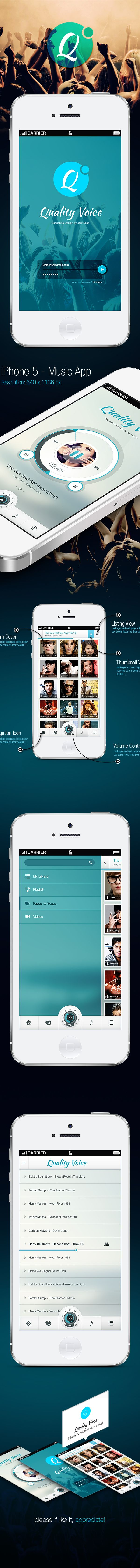 Quality Voice - Mobile App UI on Behance