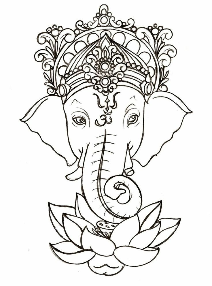 """Ganesh- god of obstacles and wisdom. I'd love this below my """"Ancora imparo"""""""