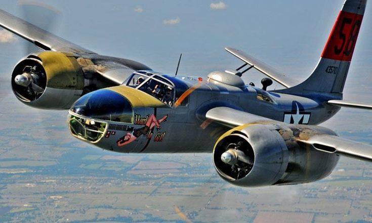 A-26 Invader. I believe they had a B-26 bomber version as well...