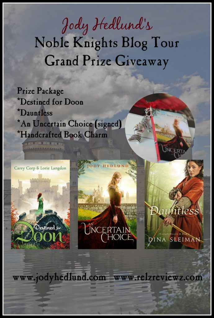 Noble Knights Blog Tour Grand Prize Giveaway at jodyhedlund.com and relzreviewz.com