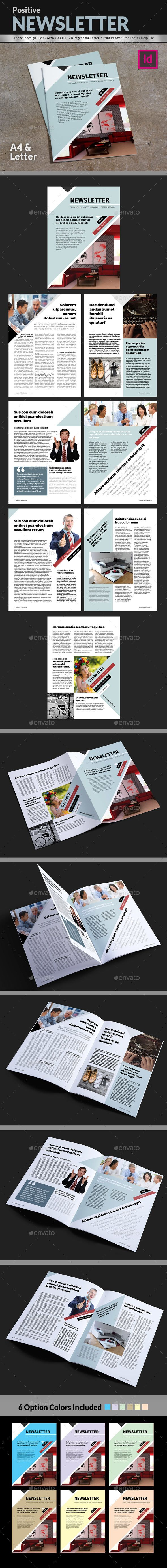 Positive #Newsletter Template - Newsletters Print #Templates Download here: https://graphicriver.net/item/positive-newsletter-template/18151511?ref=alena994