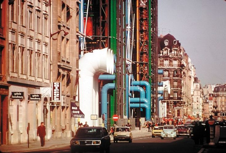 Piano and Rogers share Centre Pompidou photographs on 40th anniversary