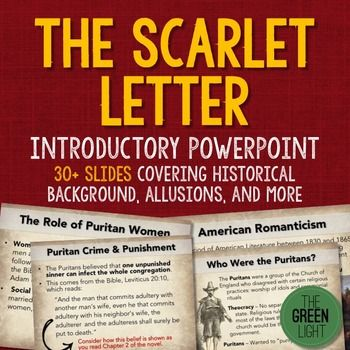 The Scarlet Letter Introductory PowerPoint and Activity