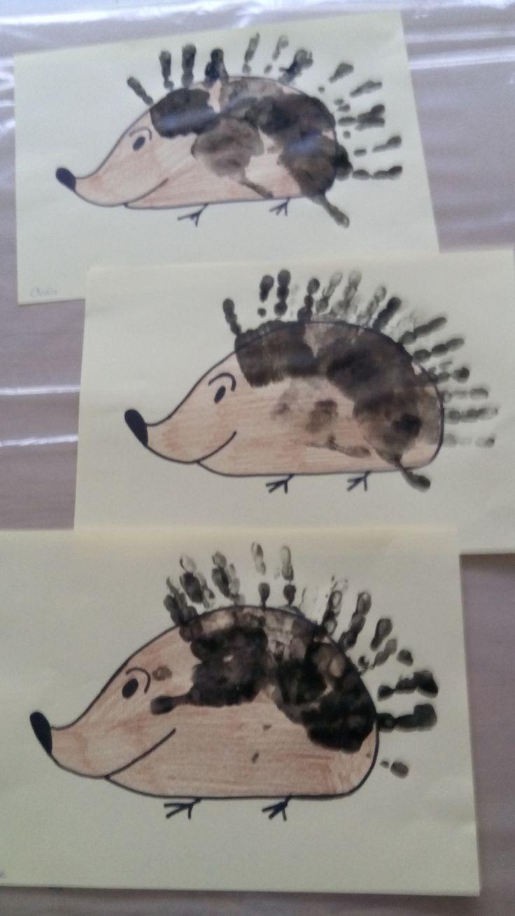 egel met handafdrukken