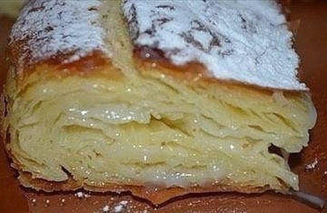 Фытыр Вкуснее не придумаешь!  Это египетская сладость, то ли пирог, то ли пирожное, но скажу одно - это безумно вкусно!  Ингредиенты:  Молоко 3 ст. Дрожжи сухие быстродействующие 0,5 ч.л. Яйцо куриное 2 шт. Мука пшеничная 3 ст. Масло сливочное 200 г Соль 1 щеп. Сахар 1 ст. Крахмал картофельный 3 ст.л. Ванильный сахар по вкусу Сахарная пудра по вкусу  Приготовление:  В 1 стакане теплого молока растворяем дрожжи, добавляем одно яйцо, соль, муку и замешиваем мягкое и эластичн...