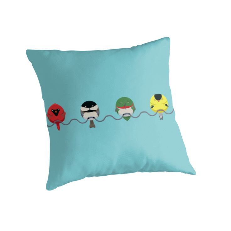 Tweeters Throw Pillows by AnMGoug on Redbubble. #cute #birds #pillow