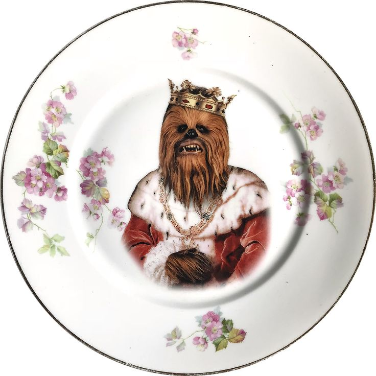 King of the Wookies - Chewbacca - Star Wars - Vintage Porcelain Plate - #0591 by ArtefactoStore on Etsy