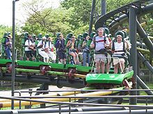 KING COBRA-Paramounts Kings Island-Cinn. Ohio--first stand up looping coaster-wikapedia