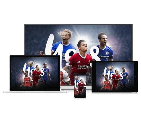 English Premier League on multiple screen sizes