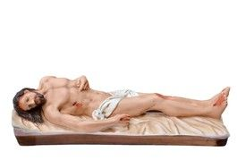 Gesù Morto cm. 50 lunghezza cm. 50 in gesso disponibile anche in resina dipinto con colori acrilici  http://www.ovunqueproteggimi.com/collezione-statue/ges%C3%B9/morto/