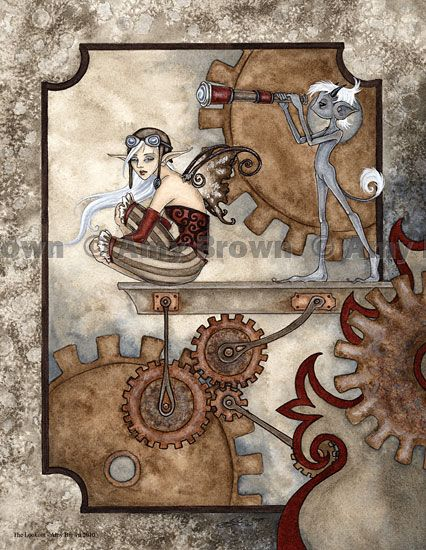 """""""The Lookout"""" PRINTS-OPEN EDITION - Carnival and Steampunk - Amy Brown Fairy Art - The Official Gallery"""