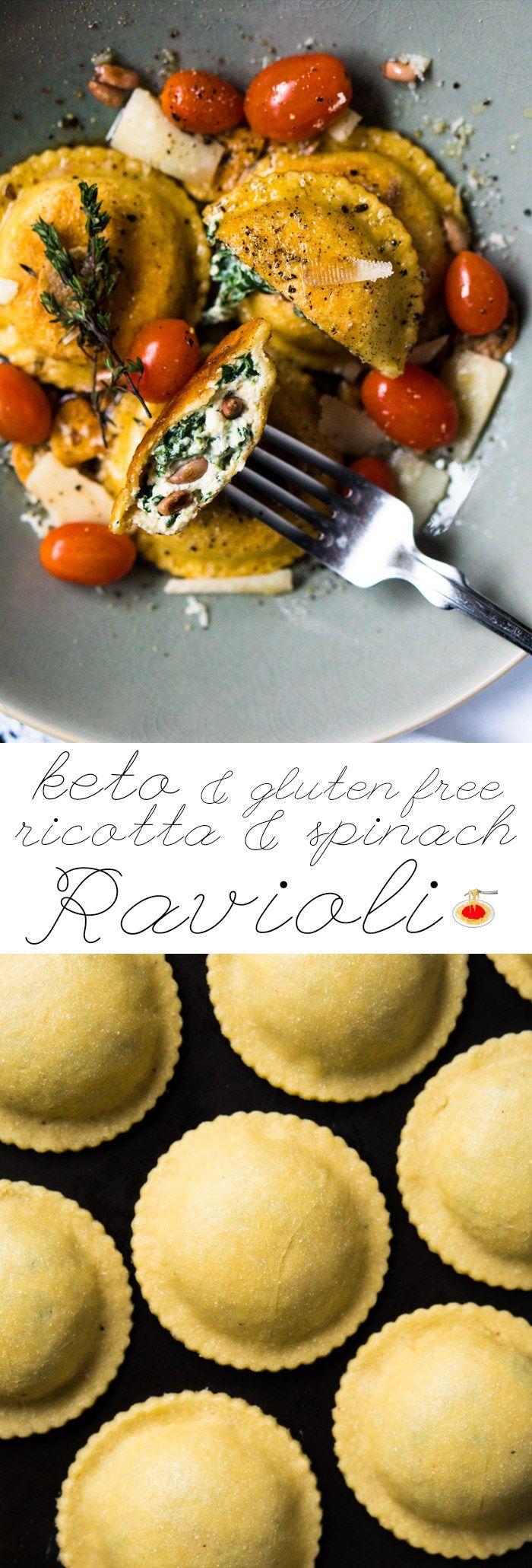 Grain Free, Low Carb & Keto Ravioli  #ketoravioli #ketopasta #lowcarbpasta #grainfreepasta