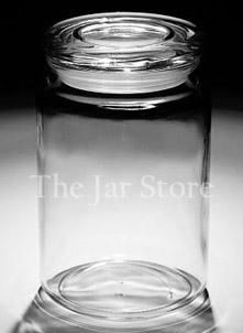 24 oz Anchor Pressed Apothecary/Country Comfort Jar With Flat Glass Lid