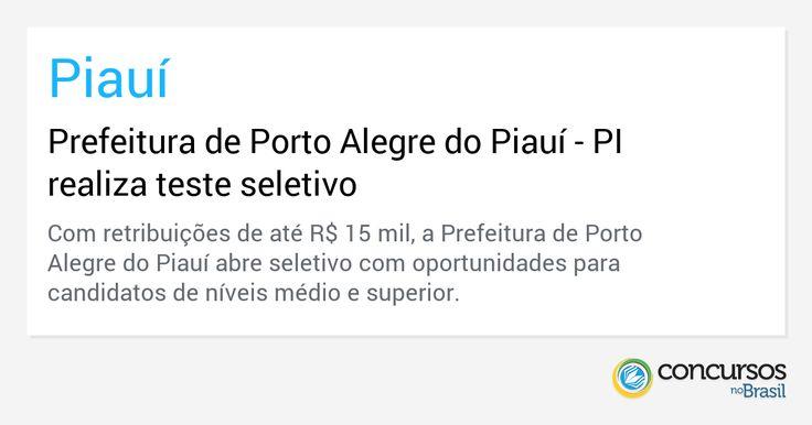 Prefeitura de Porto Alegre do Piauí - http://anoticiadodia.com/prefeitura-de-porto-alegre-do-piaui/