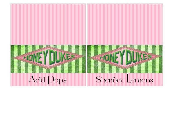 Free printable Honeydukes labels!