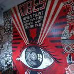Art at the Cosmopolitan Hotel Las Vegas include Garage Art and Instalations