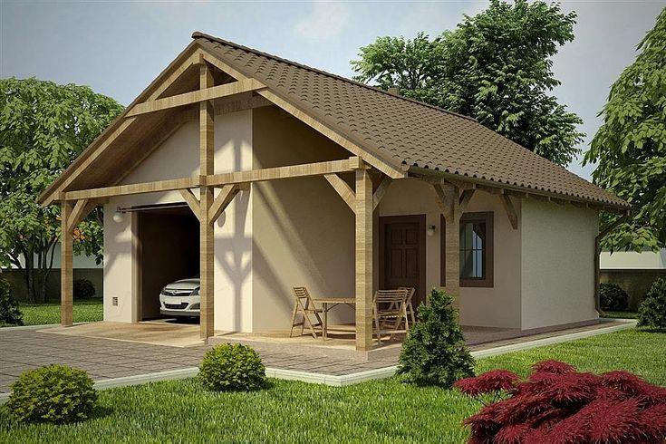 projekt G78 - Budynek garażowo - gospodarczy PRA1092