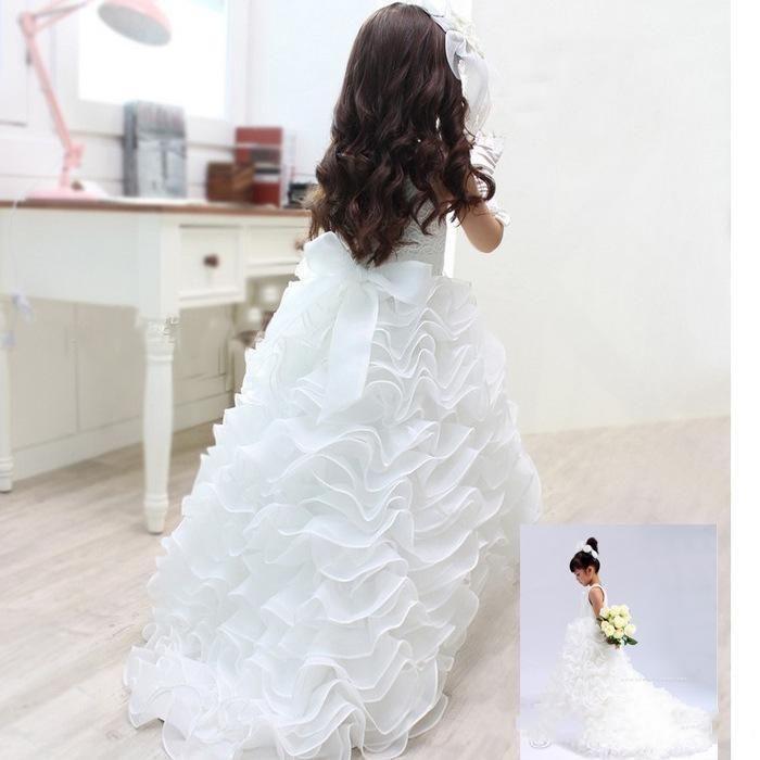 Little White Flower Girl Dresses For Wedding Tiered Beads Ruffles Flower Girl Dresses Wedding Gowns For Teens Todders Cute Girls Pageant Gow Newborn Girl Dresses Princess Dresses For Toddlers From Lovely518, $86.39| Dhgate.Com