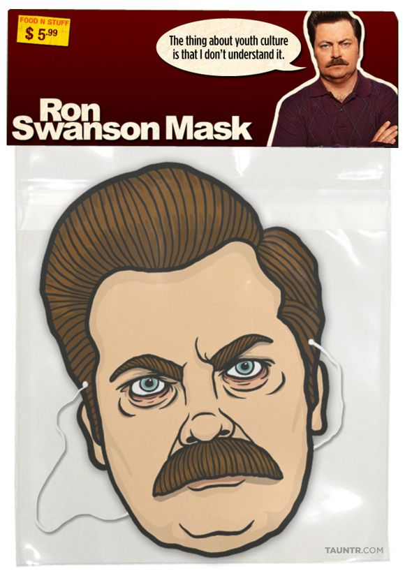 Ron Swanson Halloween Mask!!!! I need it