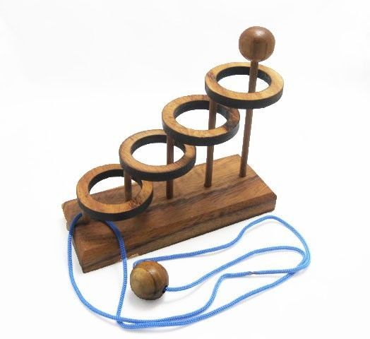 FOUR RING PUZZLE, Wooden Puzzle Game, Strategy Game, Brain Teaser, Travel size #WoodenGamesToyshandmade