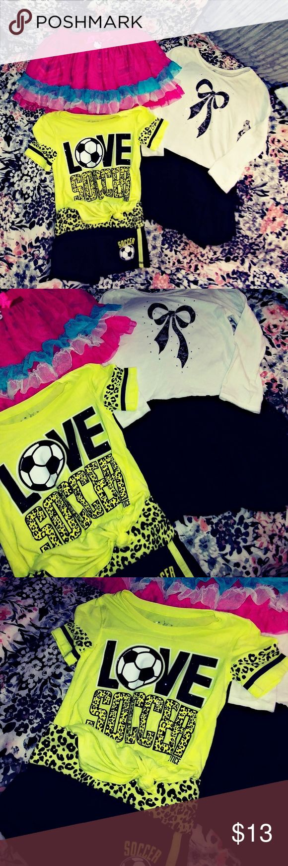 GIRL'S LOT • SIZE 5/6  EUC! NO STAINS, HOLES OR DEFECTS!  INCLUDES: • HELLO KITTY SKIRT • JUSTICE SOCCER OUTFIT • TCP DRESS   BUNDLE & SAVE! IF BUNDLE EXCEEDS THE 5LB WEIGHT LIMIT ADDITIONAL SHIPPING IS REQUIRED TO BE PAID FOR BY BUYER   ⚓ NO TRADES ⚓ NO LOW BALL OFFERS ⚓ I DO NOT MODEL MY LISTINGS ⚓ NO OFF POSH TRANSACTIONS   I USUALLY SHIP IN 24 HRS EXCEPT WEEKENDS & HOLIDAYS SHIP THE NEXT BUSINESS DAY!   THANKS FOR LOOKING! ⚓AM7X70 Justice Shirts & Tops