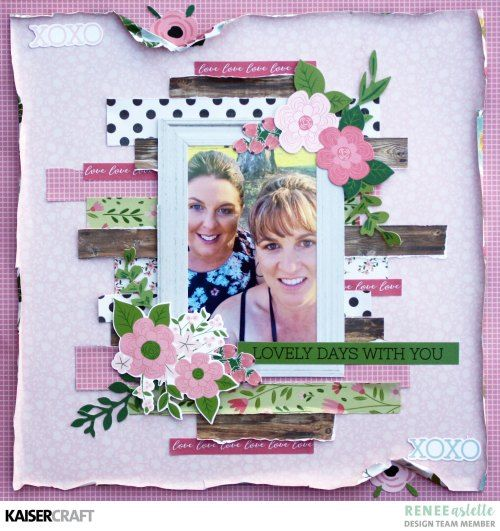 Lovely Days With You a Layout by Renee Aslette - Kaisercraft Official Blog