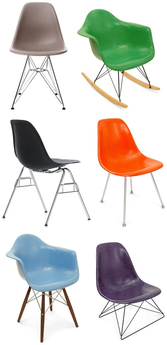 Eames plastic chairs, las quiero todas!