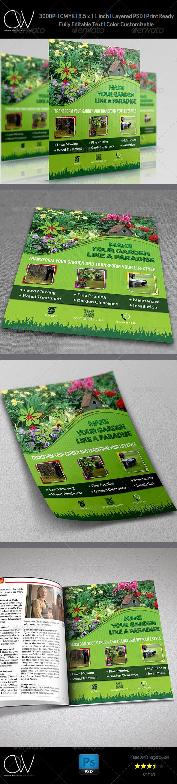 images about service flyer templates garden services flyer template psd template advertisements institute airline coffee shop